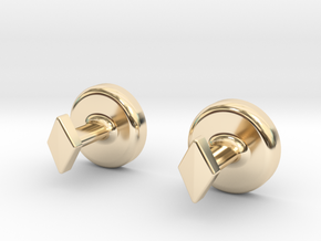 Yin Yang Cuff Links - Small in 14k Gold Plated Brass