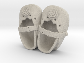 Baby Shower Decorations - Baby Shoes - One Color  in Natural Sandstone