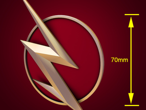 The Flash - Right Ear Bolt (TV Flash) -70mm in White Strong & Flexible