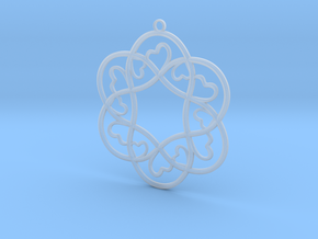 Little Hearts Pendant in Smooth Fine Detail Plastic