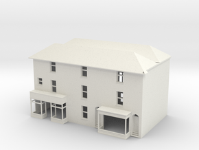 TFS-16 N Scale Topsham Fore Street building 1:148 in White Natural Versatile Plastic