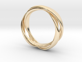 3-Twist Ring in 14k Gold Plated Brass
