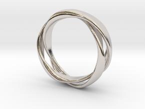 3-Twist Ring in Rhodium Plated Brass