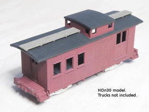 HOn3 25 foot Caboose A in White Strong & Flexible