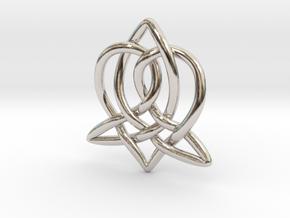Celtic Sister Pendant - Tube Version in Platinum