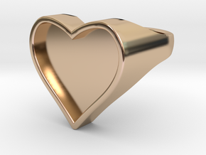 Heart in 14k Rose Gold Plated Brass