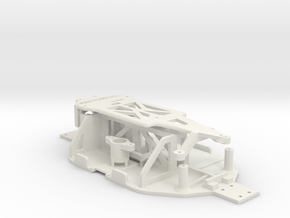 Losi Micro 1/24 Chassis Ver. B in White Strong & Flexible