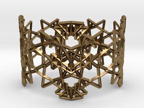 Deco Pattern Cuff in Natural Bronze