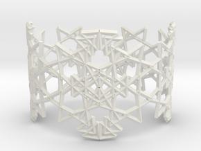 Deco Pattern Cuff in White Natural Versatile Plastic