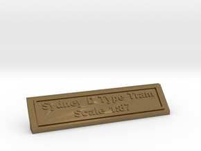 Base Nameplate HO Sydney D in Natural Bronze