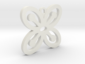 Bese Saka Pendant in White Natural Versatile Plastic
