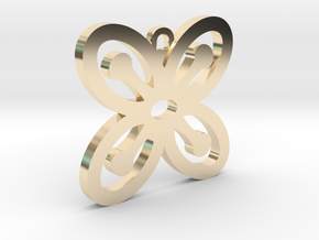 Bese Saka Pendant in 14k Gold Plated Brass