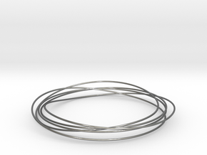 Mobius Wire Bracelet in Fine Detail Polished Silver