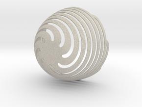 Spiral Bowl in Natural Sandstone
