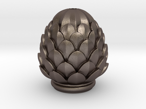 Pine Cone in Polished Bronzed Silver Steel