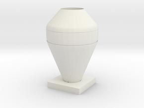 Vase 3 in White Natural Versatile Plastic