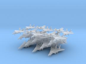 Grumman F-14 Tomcat (15x) & F-35 (10x) (1:285) in Smooth Fine Detail Plastic