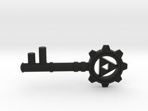 Zelda Dungeon Key in Black Natural Versatile Plastic