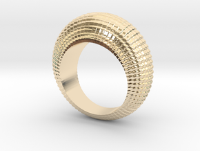 0100 Antisymmetric Torus Ring (Size 6) #001 in 14K Yellow Gold
