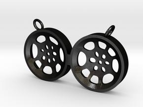 """Double Tenor """"void"""" steelpan pendant, M in Matte Black Steel"""