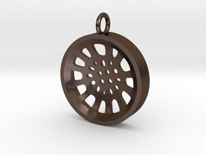 "High Tenor ""void"" steelpan pendant, S in Polished Bronze Steel"