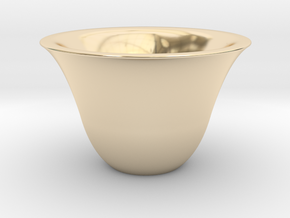 Japanse Sake-cup  in 14k Gold Plated Brass