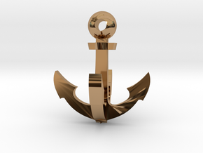Grappling Hook 2 - small in Polished Brass