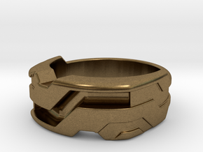 US10 Ring XXI: Tritium (Silver) in Natural Bronze