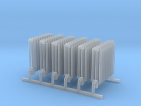 S Scale Radiators X6 in Smooth Fine Detail Plastic