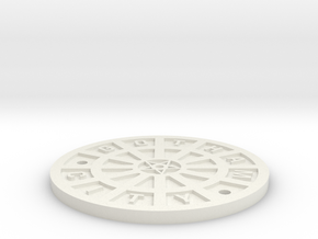 Gotham City Manhole – Sixth Scale  in White Natural Versatile Plastic