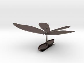 Boaterfly (Plain) in Polished Bronzed Silver Steel