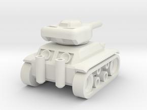 Panzer '74 Mini in White Natural Versatile Plastic