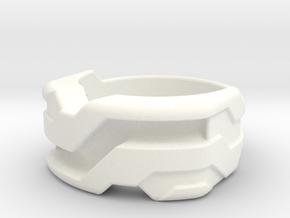 US5.5 Ring XXI: Tritium (Silver) in White Processed Versatile Plastic