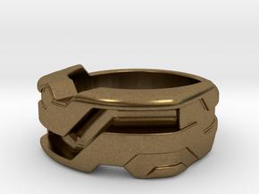US6.5 Ring XXI: Tritium (Silver) in Natural Bronze