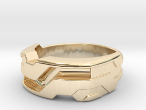 US11.5 Ring XXI: Tritium (Silver) in 14k Gold Plated Brass