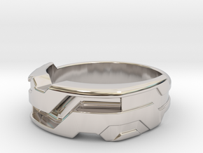 US13.5 Ring XXI: Tritium (Silver) in Rhodium Plated Brass