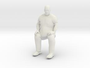 Big Guy Sitting 1/24 in White Natural Versatile Plastic
