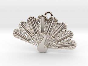 Peacock Fashion Pendant in Rhodium Plated Brass