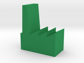 Game Piece, Factory 20mm in Green Processed Versatile Plastic