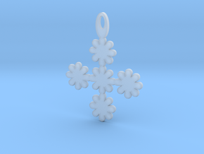 Flower pendant in Smoothest Fine Detail Plastic