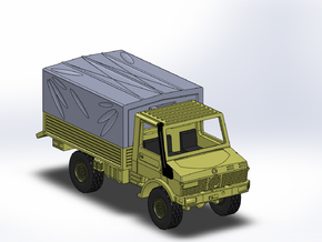 MB Unimog U1300 1:144 in Smooth Fine Detail Plastic