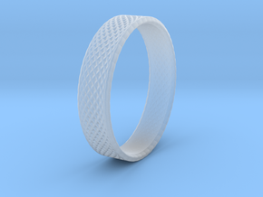 0101 Lissajous Figure Ring (Size9.5, 19.4mm) #002 in Smooth Fine Detail Plastic