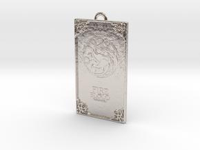 Game of Thrones - Targaryen Pendant in Rhodium Plated Brass