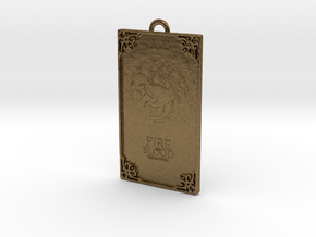 Game of Thrones - Targaryen Pendant in Natural Bronze