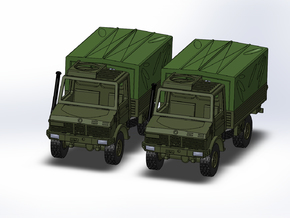 2x MB Unimog U1300 Militär 1:160 in Smooth Fine Detail Plastic