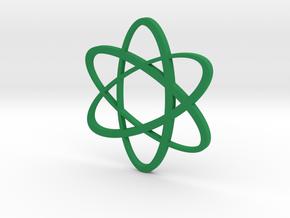 Atom Pendant in Green Processed Versatile Plastic