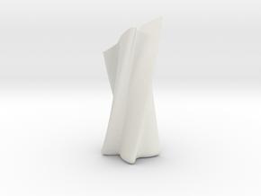 Slanted Shuriken Vase in White Natural Versatile Plastic