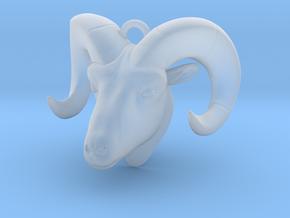 Ram head pendant in Smooth Fine Detail Plastic