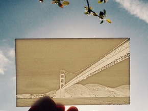 Golden Gate Lithography in White Natural Versatile Plastic
