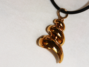 Conic Seashell Pendant in Polished Bronze